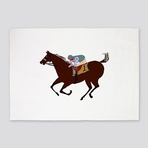 The Racehorse 5'x7'Area Rug