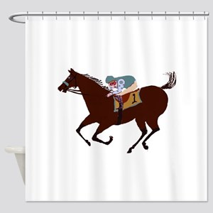 The Racehorse Shower Curtain
