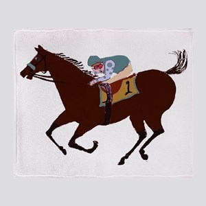 The Racehorse Throw Blanket