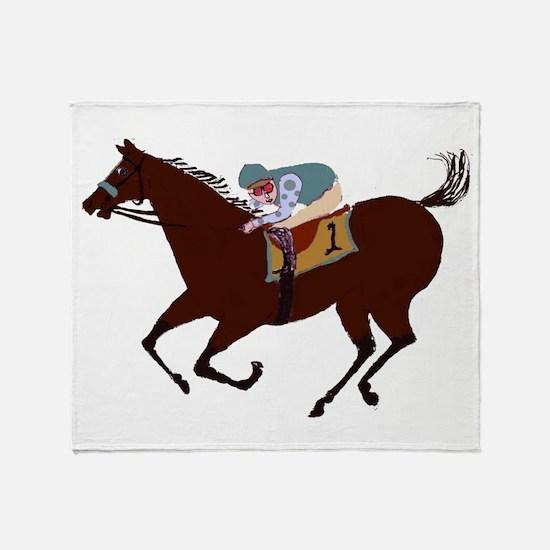 The Racehorse Throw Blanket