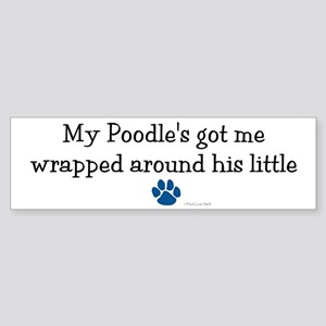 Wrapped Around His Paw (Poodle) Bumper Sticker
