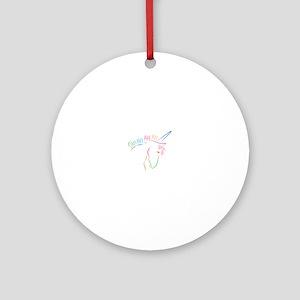 Unicorn Outline Ornament (Round)