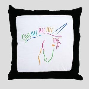Unicorn Outline Throw Pillow