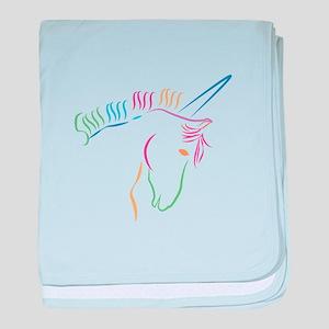 Unicorn Outline baby blanket