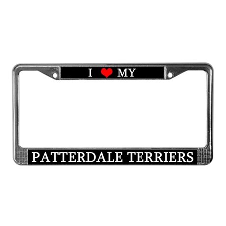 Love Patterdale Terriers License Plate Frame