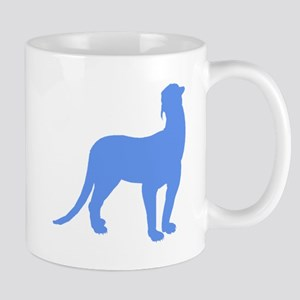Thylacosmilus Silhouette (Blue) Mugs