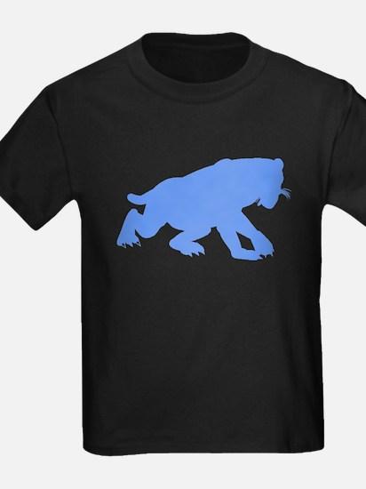 Smilodon Californicus Silhouette (Blue) T-Shirt