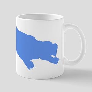 Machairodus Silhouette (Blue) Mugs