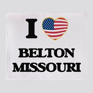 I love Belton Missouri Throw Blanket