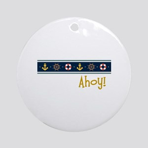 Ahoy Ornament (Round)