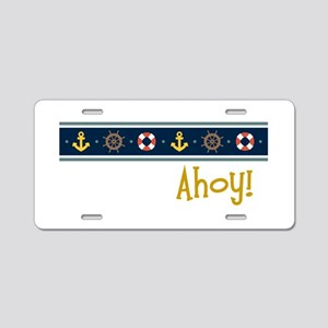 Ahoy Aluminum License Plate