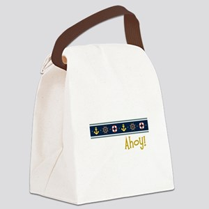 Ahoy Canvas Lunch Bag