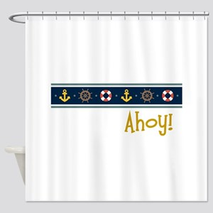 Ahoy Shower Curtain