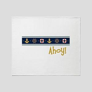 Ahoy Throw Blanket