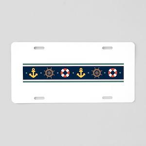 Sailing Border Aluminum License Plate
