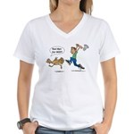 Funny Thanksgiving Women's V-Neck T-Shirt