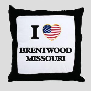 I love Brentwood Missouri Throw Pillow