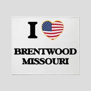 I love Brentwood Missouri Throw Blanket