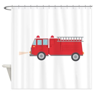 Fire Truck Hooks Shower Curtains