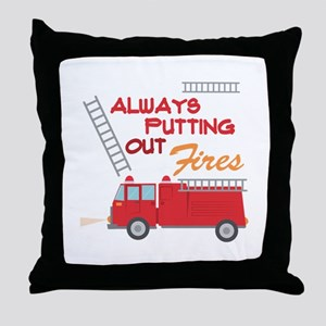 Putting Out Fires Throw Pillow