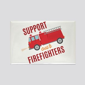 Support Firefighters Magnets