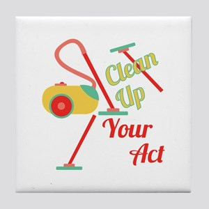 Clean Up Tile Coaster