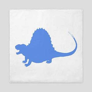 Spinosaurus Silhouette (Blue) Queen Duvet