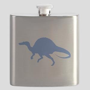 Spinosaurus Silhouette (Blue) Flask