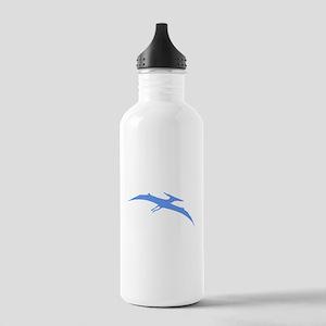 Pterodactyl Silhouette (Blue) Water Bottle