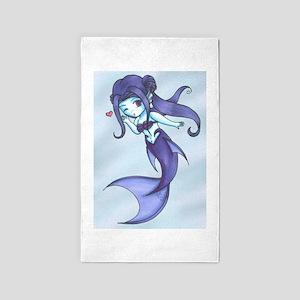 Rainbow Mermaid - Indigo Area Rug