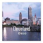 "Cleveland Square Car Magnet 3"" x 3"""