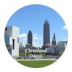 Cleveland Round Car Magnet