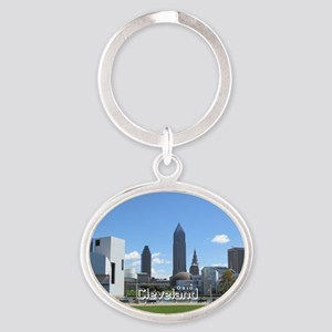 Cleveland Oval Keychain