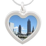 Cleveland Silver Heart Necklace