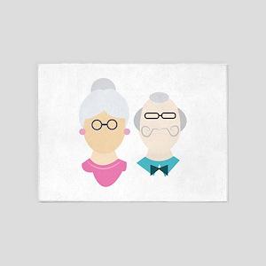 Grandparents 5'x7'Area Rug