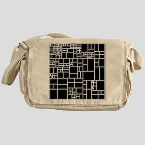 BW Geometric Pattern PHIL Messenger Bag