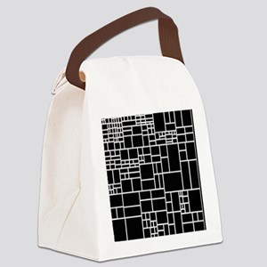 BW Geometric Pattern PHIL Canvas Lunch Bag