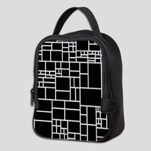 BW Geometric Pattern PHIL Neoprene Lunch Bag