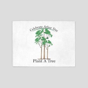 Celebrate Arbor Day 5'x7'Area Rug