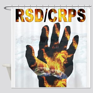 CRPS RSD A'Flame Hand Glacier Shower Curtain