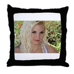 US Blonde American Beauty Throw Pillow