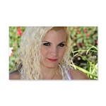 US Blonde American Beauty 20x12 Wall Decal