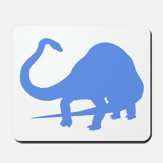 Diplodocus Silhouette (Blue) Mousepad