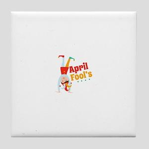 April Fools Tile Coaster
