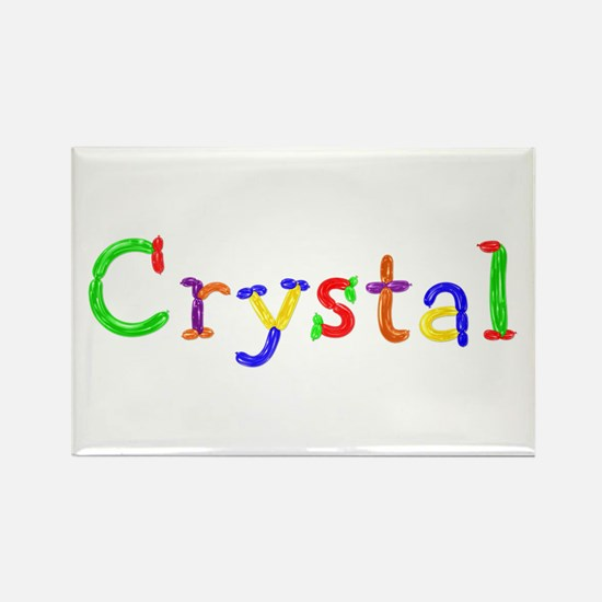 Crystal Balloons Rectangle Magnet
