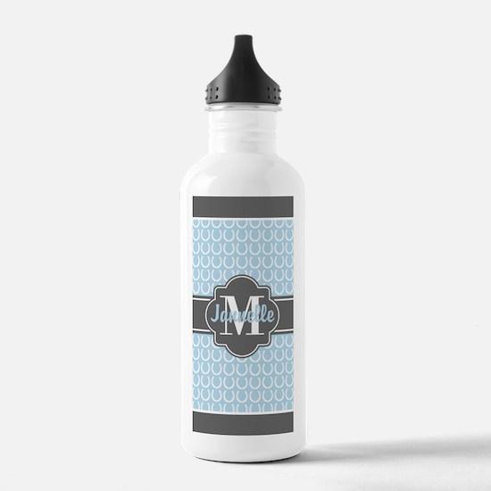 Tiffany Blue Horseshoe Sports Water Bottle
