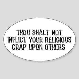 Anti-Religious Oval Sticker