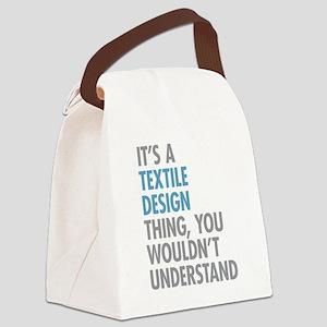 Textile Design Canvas Lunch Bag