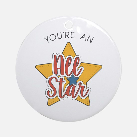 An All Star Ornament (Round)