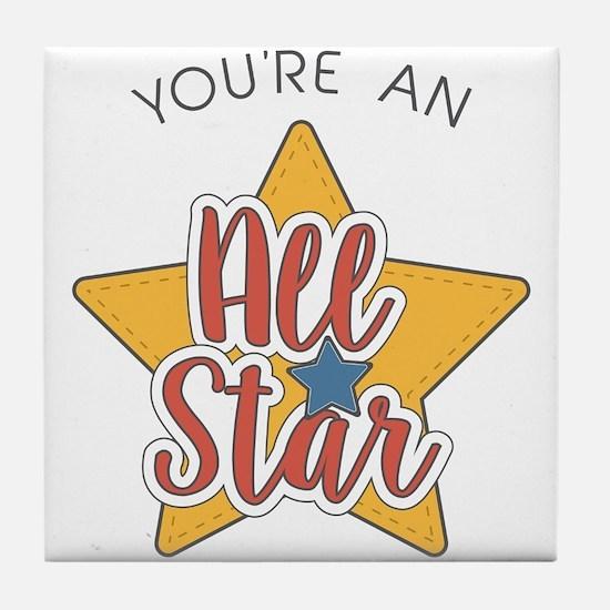 An All Star Tile Coaster